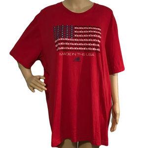 ($10) New Balance American Flag T-Shirt Unisex